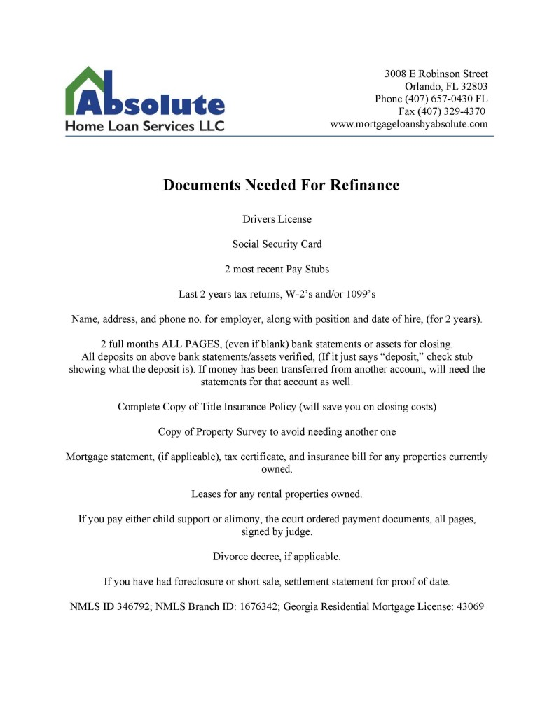 Refinance_List_of_documents_needed1